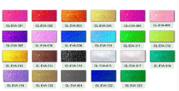 Glitter Rubber EVA Foam Sheet For Craft Work