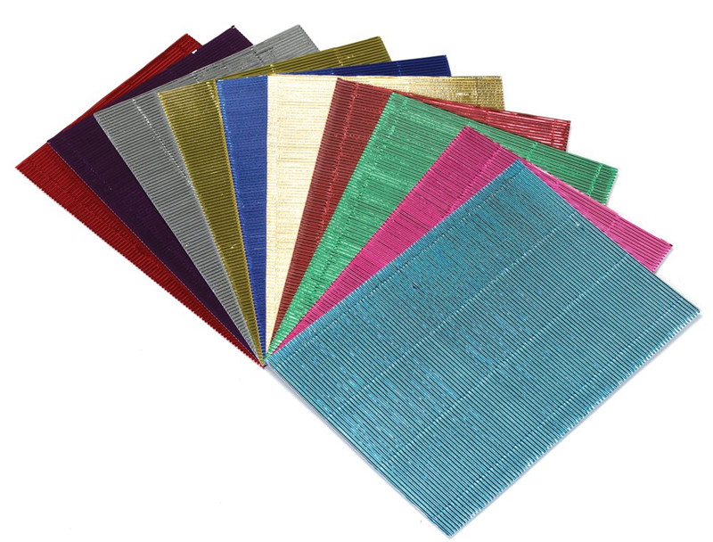 Wave Flute Color Corrugated Paper