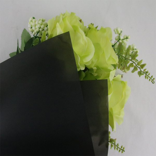 Translucent Matting Flower and Gift Wrapping Paper TW2-Black