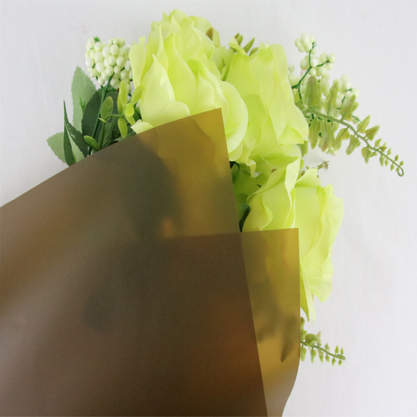 Translucent Flower Wrapping Film Paper TW4-Coffee