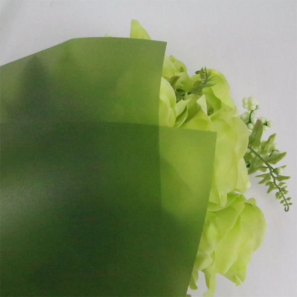 Waterproof Translucent matte Wrapping plastic Paper TW8-D-Green