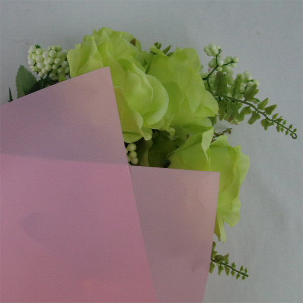 Plastic Translucent Matted Wrapping Film TW15-Pink