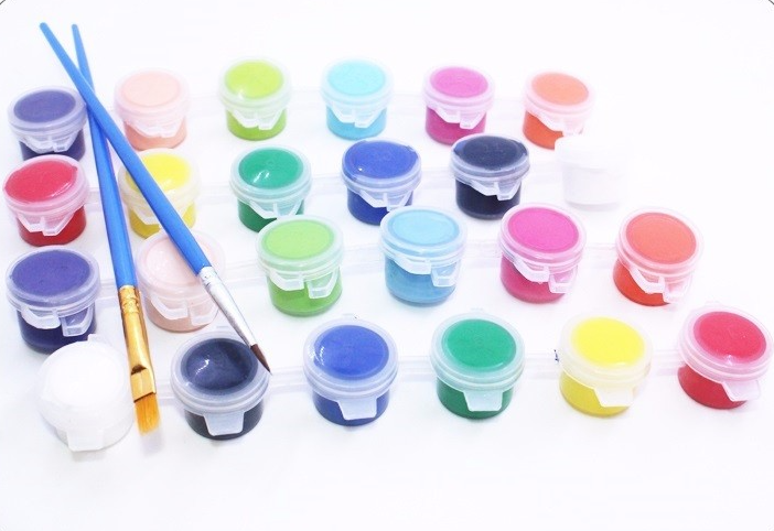 High Quality Non-toxic Kids Drawing Use 6 Pack 5ml Acrylic Paints 12-Color Set