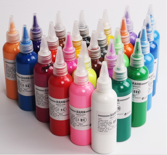 Environmental 300ml Bottled Acrylic Paint for Kids