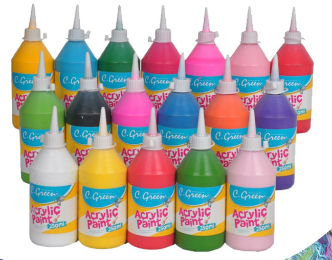 Wholesale acrylic paint , OEM 250ML, 500ML