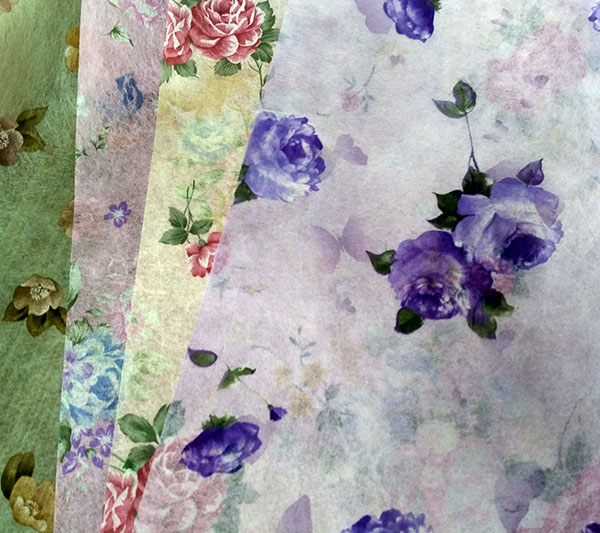 NEW Design Non-woven Floral Wrapping Paper