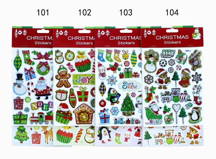Christmas puffy sticker
