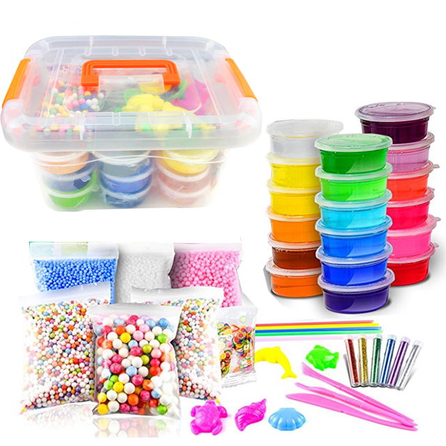 High Quality Crystal Slime Making Kit Comes with 24 Colors Slime Set for Kids Aged 6+
